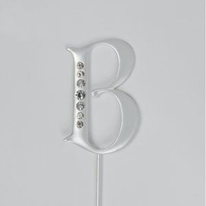"""Silver Monogram Letter """"B"""""""