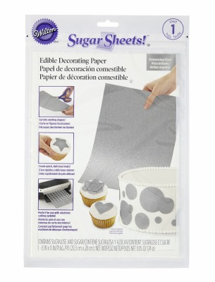 Silver Shimmer Sugar Sheet