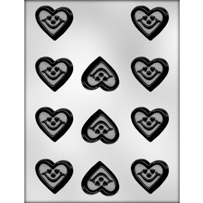"""1-5/8"""" Smiley Heart Candy Mold"""