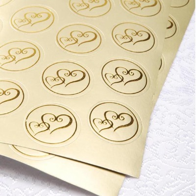 Stickers - Gold Hearts 50 CT