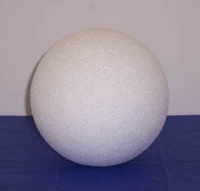Styrofoam Ball White 3""