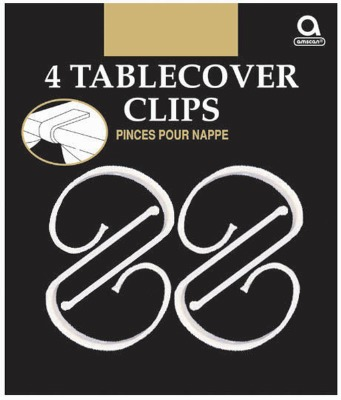 Tablecover Clips 4 CT