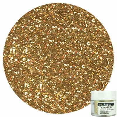 Celebakes Soft Gold Techno Glitter