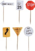 Paper Traffic Sign Picks 12 ct