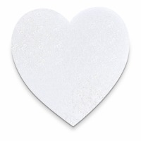 White Cake Board 8 Inch Heart