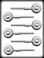 "1-1/2"" Daisy Sucker Hard Candy Mold"