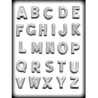 "1-1/4"" Alphabet Hard Candy Mold (26)"