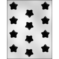 "1-1/4"" Flat Star Choc Mold"