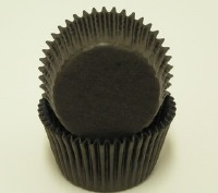 "1-1/4"" X 2"" Black Baking Cups 500 Count"