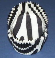 """Baking Cups 1-1/4"""" X 2"""" Zebra Black & White Baking Cups 500 Count"""