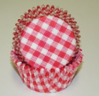 "1-1/4""X2"" Gingham Red Baking Cups 500 Count"