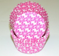 "1-1/4""X2"" Pinwheel Pink Baking Cups 500 Count"