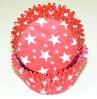 "1-1/4""X2"" Star Red Baking Cups 500 Count"