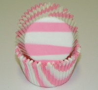 "1-1/4""X2"" Zebra Light Pink Baking Cups 500 Count"