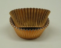 "1-1/8"" X 2"" Copper Foil Baking Cup 500 CT"