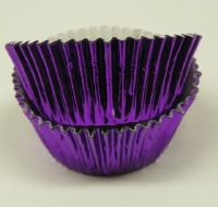 "1-1/8"" X 2"" Purple Foil Baking Cup 500 CT"