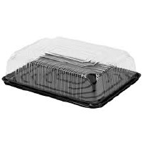 1/2 Sheet Plastic Cake Dome Set