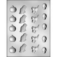 Pumpkin, Owl, Cat, Skull Mold