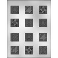 "1.25""Quilt Squares Mold (12)"