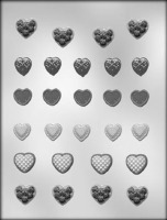 "1-3/4"" Assorted Hearts (27)"