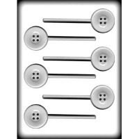 "1-3/4"" Button Lolli Hard Candy Mold(6)"