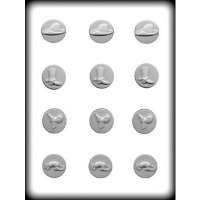 "1-3/4"" Pony Head Hard Candy Mold (7)"