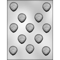 """1-3/8"""" Oysters Choc Mold (12)"""
