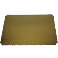 "Gold Cake Board 1/4 Quarter Sheet 14"" X 10"""