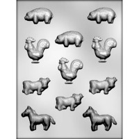 "1.5""- 2"" Farm Animals Mold 11"