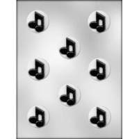 """1.5""""Circle w/Music Notes Mint8"""