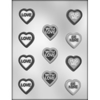 """1.5"""" Heart W/ Messages (11)"""