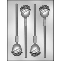 "1-7/8"" Long Stem Rose Lolly(4)"