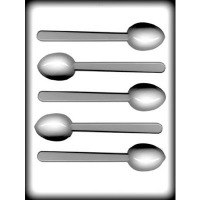"1-7/8"" Mocha Spoon Hard Candy Mold(5)"
