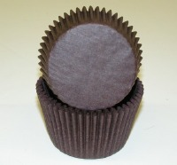 "1-7/8""X2.5"" Muffin Cups Brown"