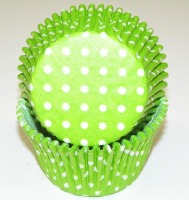 "1-7/8""X2.5"" Muffin Cups Lime"