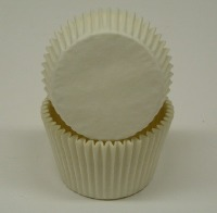 "1-7/8""X2.5"" Muffin Cups White"