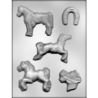"""1.75""""-3.5"""" Horses Mold (5)"""