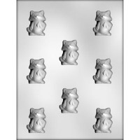 "1.75"" Cat w/ Scarf  Mold (8)"