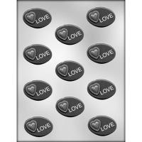 """1.75"""" Heart w/ Love Mold (11)"""