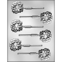"1.75"" Wreath Lolly Mold (6)"