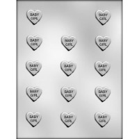 "1"" Baby Girl Heart Mold (14)"