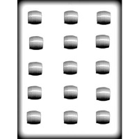 "1"" Barrels Hard Candy Mold (15)"