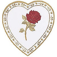 1# Heart Box 1 Layer Rose