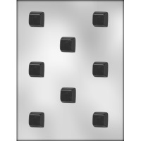 "1"" Square Chocolate Mold (8)"