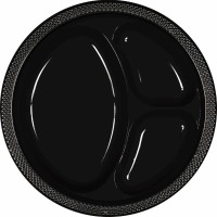 "10.25"" Divided Plate 20 CT Black"