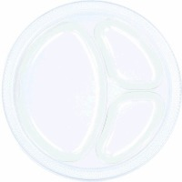 "10.25"" Divided Plate 20 CT Clear"