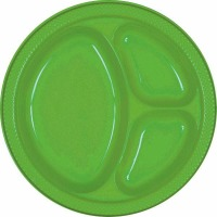 "10.25"" Divided Plate 20 CT Kiwi"