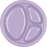 "10.25"" Divided Plate 20 CT Lavender"