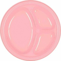 "10.25"" Divided Plate 20 CT New Pink"