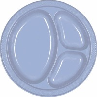 "10.25"" Divided Plate 20 CT Pas Blue"